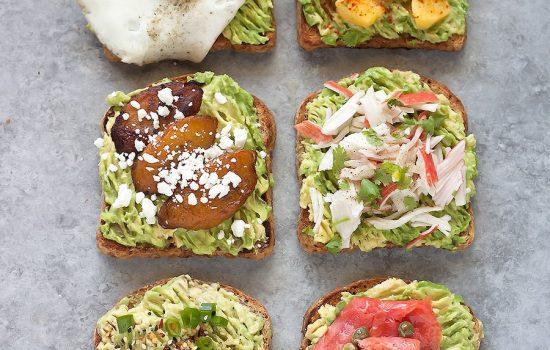 Tropical Avocado Toast {Mango, Smoked Salmon, Sweet Plantains, Crab!}