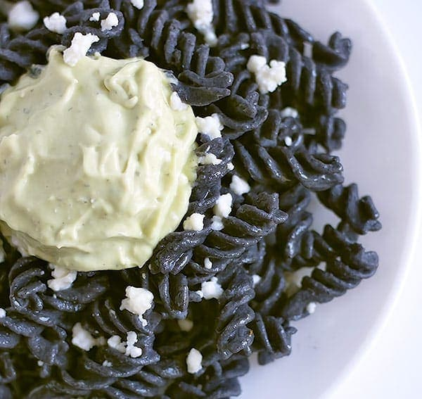 Black Bean Rotini with Avocado Crema | Hola Croqueta