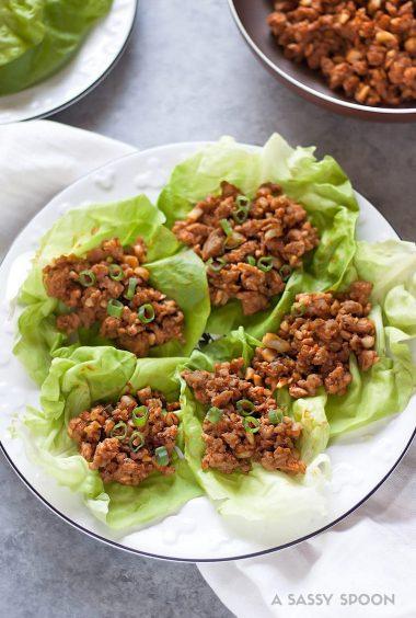 Cashew Basil Chicken Lettuce Wraps