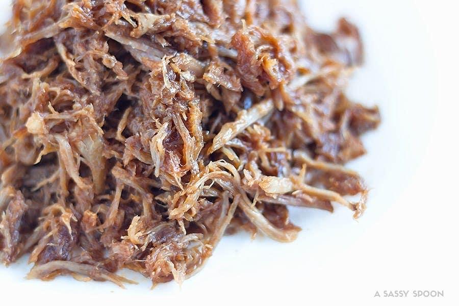 Shredded pulled pork