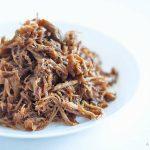 cooked shredded pork marinated in honey whiskey
