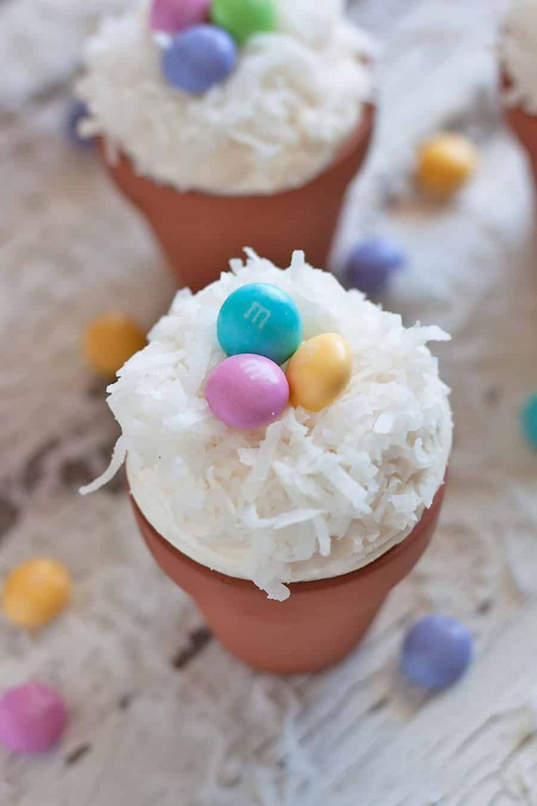 Easter M&M'S® Flower Pot Cupcakes