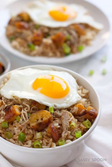 Easy Cuban Pork Fried Brown Rice