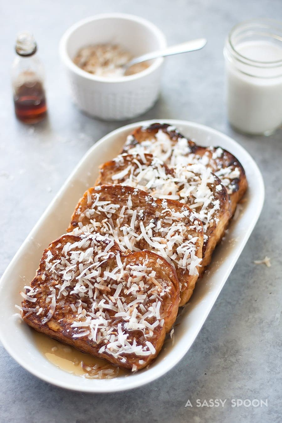 Coquito Spiked Dairy Free French Toast A Sassy Spoon