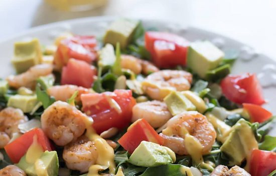 Shrimp Salad with Mango Mojito Dressing
