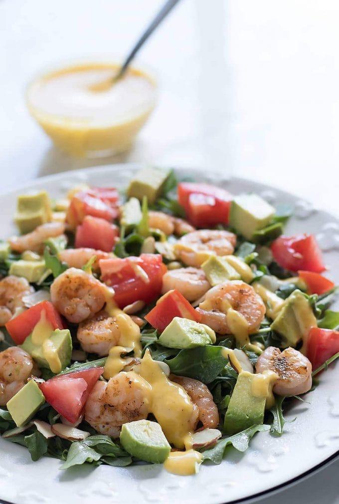 Shrimp Salad with Mango Mojito Dressing