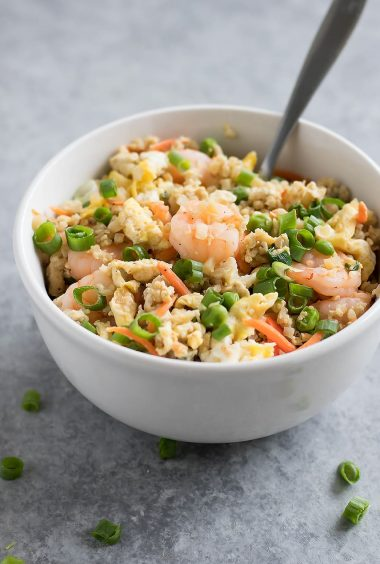 15-Minute Cauliflower Shrimp Fried Rice
