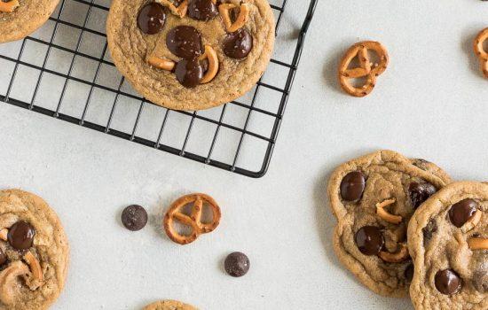 Brown Butter Pretzel Chocolate Chip Cookies