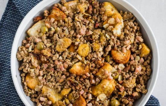 Cuban-Style Three Meat & Plantain Stuffing