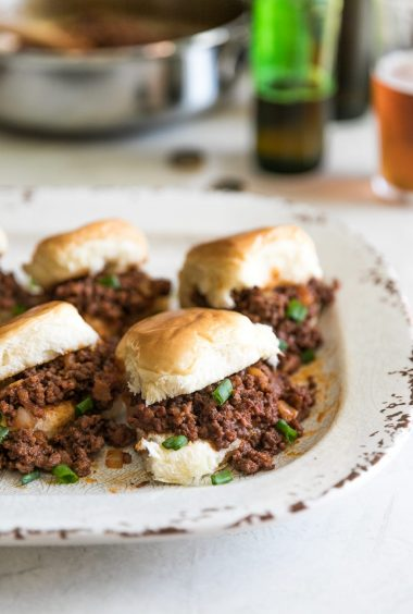 Mini Chorizo Sloppy Joes