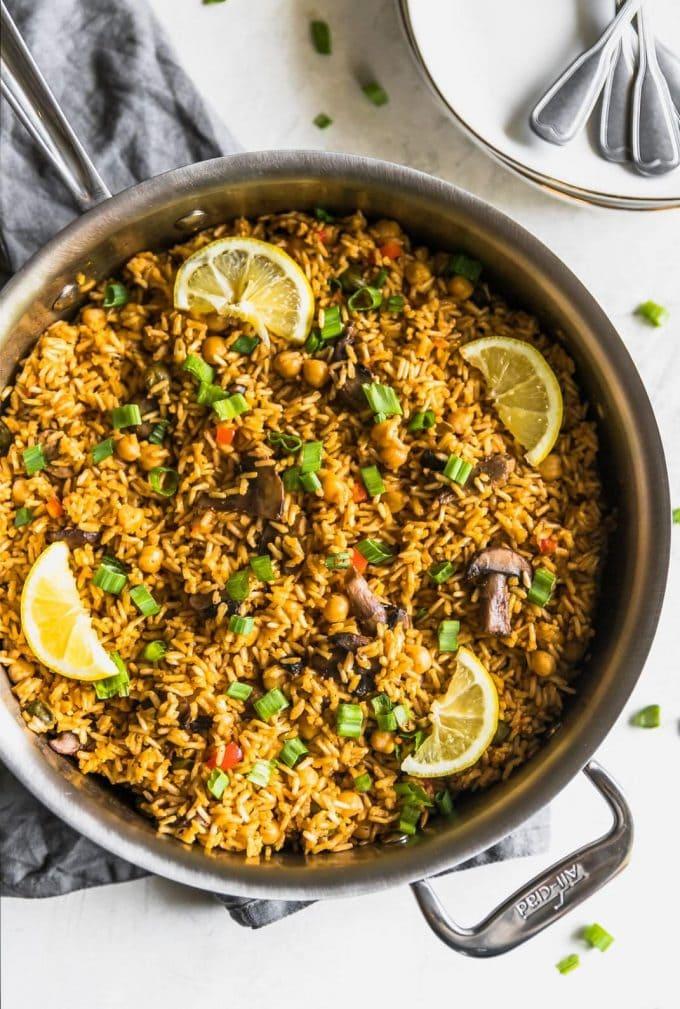 One-Pan Quick + Easy Vegetarian Paella