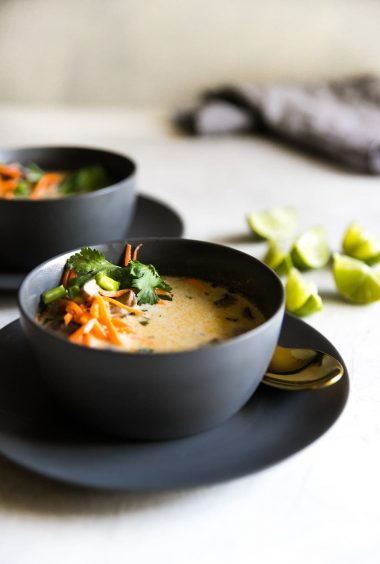 Easy Vegetarian Thai Coconut Soup (Tom Kha)