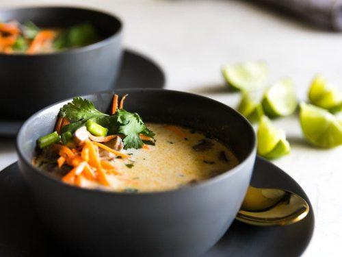 Easy Vegetarian Thai Coconut Soup Tom Kha A Sassy Spoon