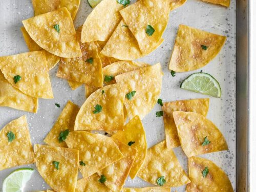 3-ingredient baked sea salt tortilla chips from scratch - a sassy spoon