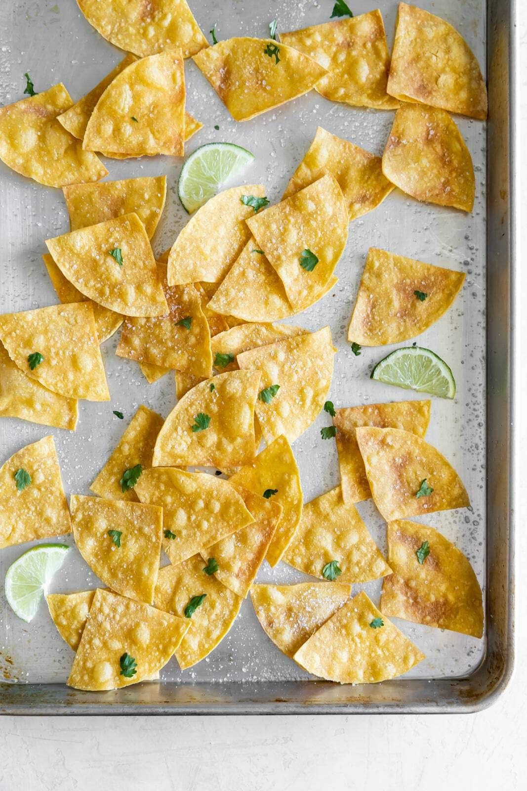 3 Ingredient Baked Sea Salt Tortilla Chips A Sassy Spoon