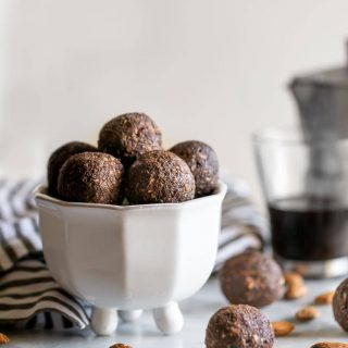 Packed with healthy fat, fiber, and protein, these no-bake chocolate coffee energy bites are delicious, nutritious and easy-to-make!