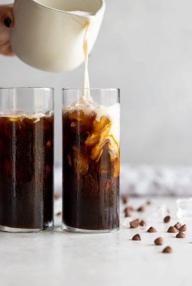 Iced Hazelnut Mocha Cafe Con Leche (Dairy-Free)
