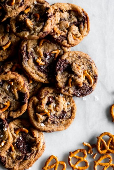 Brown Butter Chocolate Chip Pretzel Cookies
