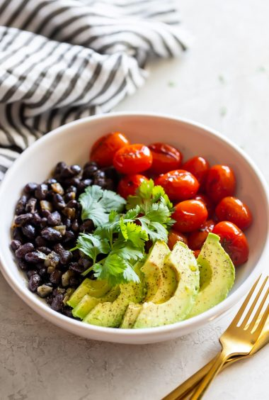 Blistered Tomato, Avocado & Black Bean Salad