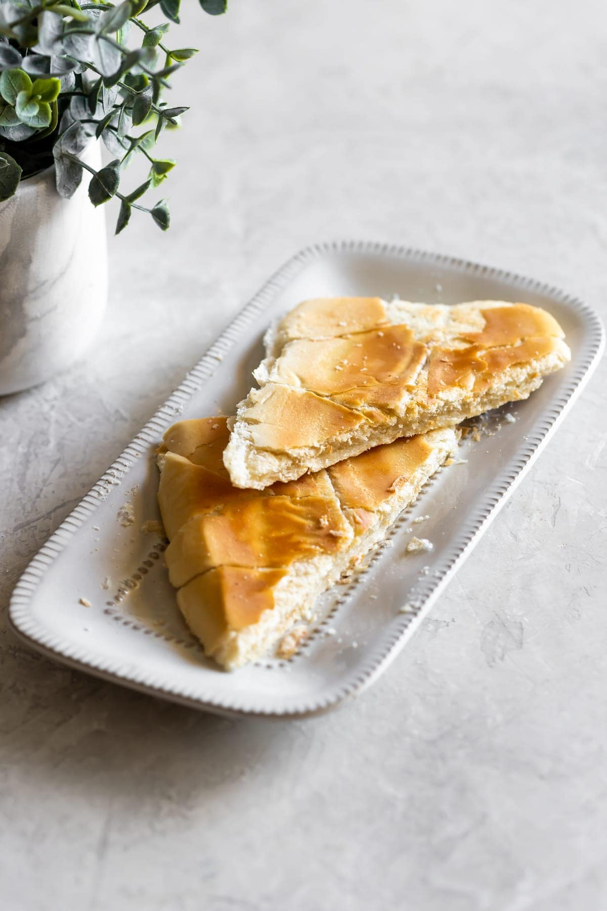 pressed cuban toast with butter