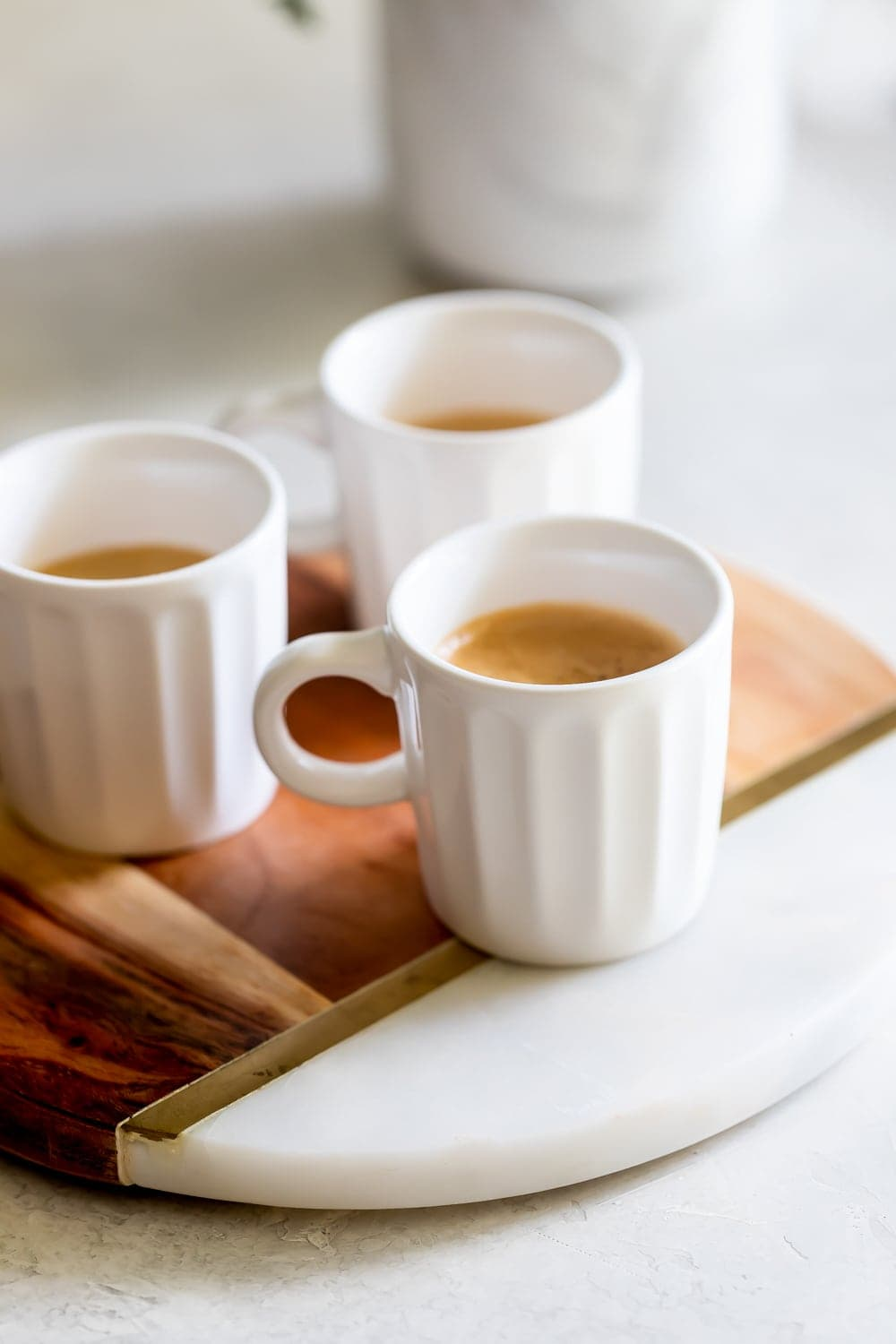 strong cuban espresso in small coffee cups