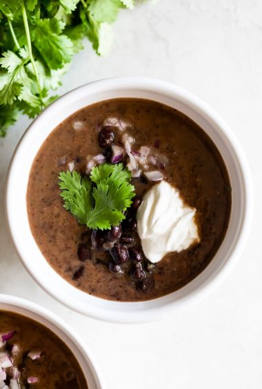Easy Cuban Black Bean Soup (Dairy-Free, Vegetarian)