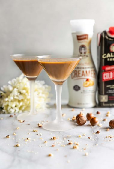 Creamy Hazelnut Cold Brew Martini