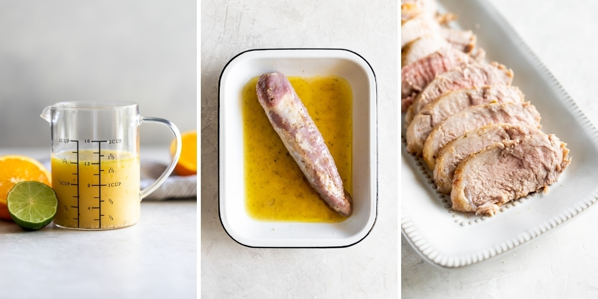 mojo marinade with pork tenderloin for Cuban sandwich