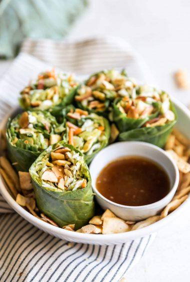 15-Minute Asian Collard Green Wraps