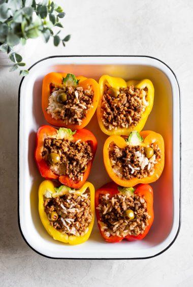 Cuban Picadillo Stuffed Peppers Recipe