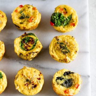 egg muffin cups with kale, spinach, eggs, and cheese,