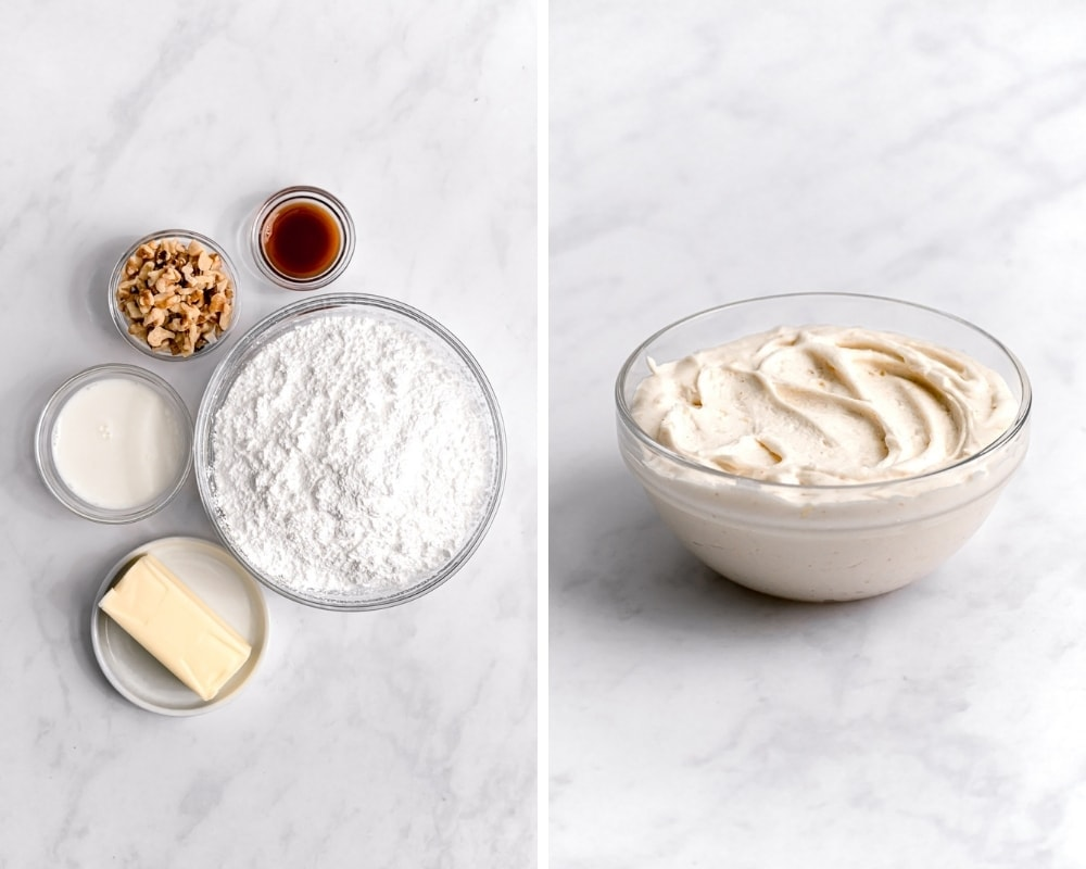 ingredients for homemade brown butter frosting