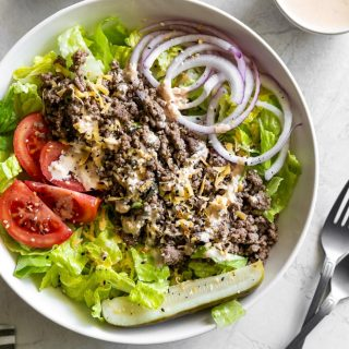 cheeseburger salad with big mac sauce recipe