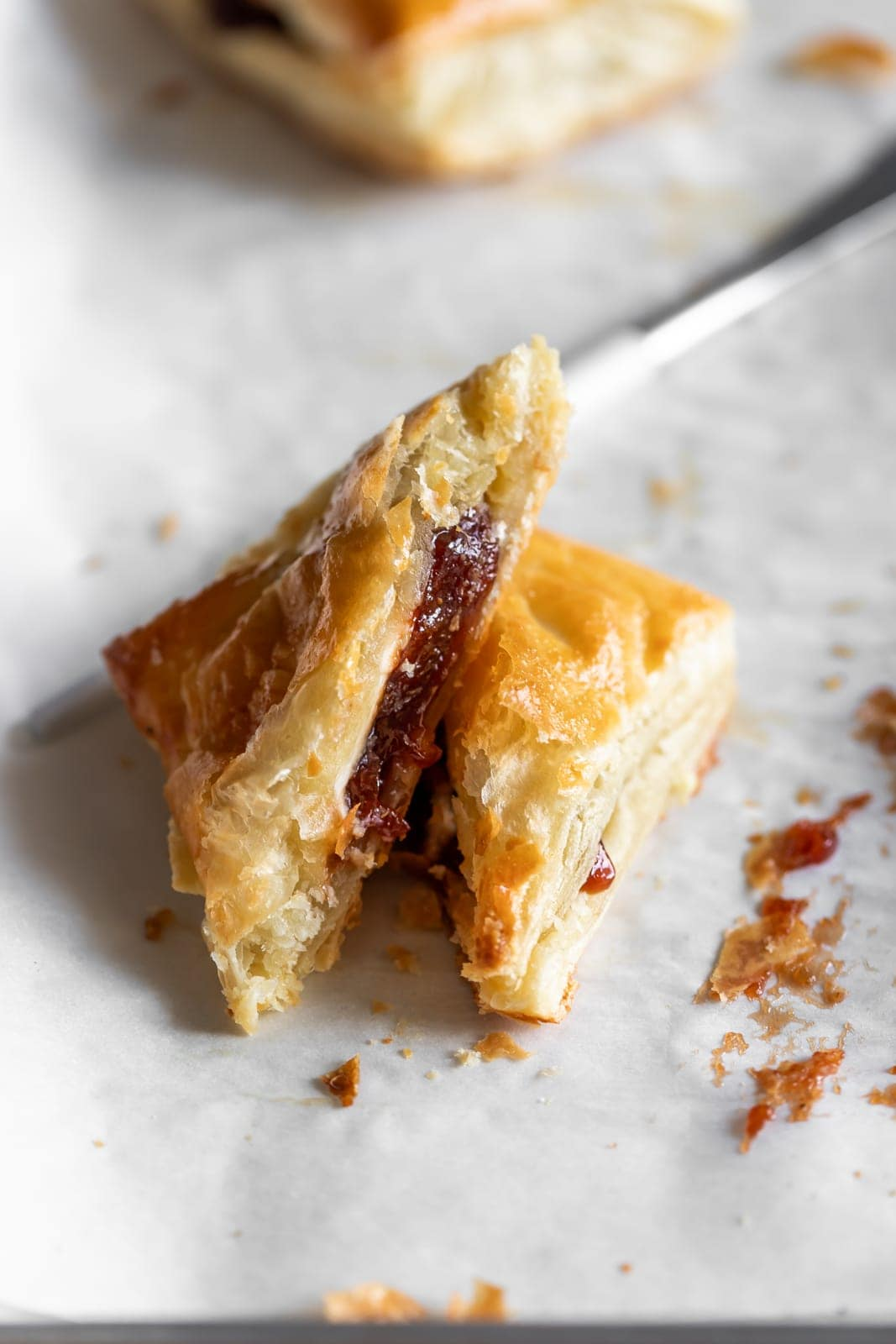 Cuban pastry filled with guava paste and cream cheese