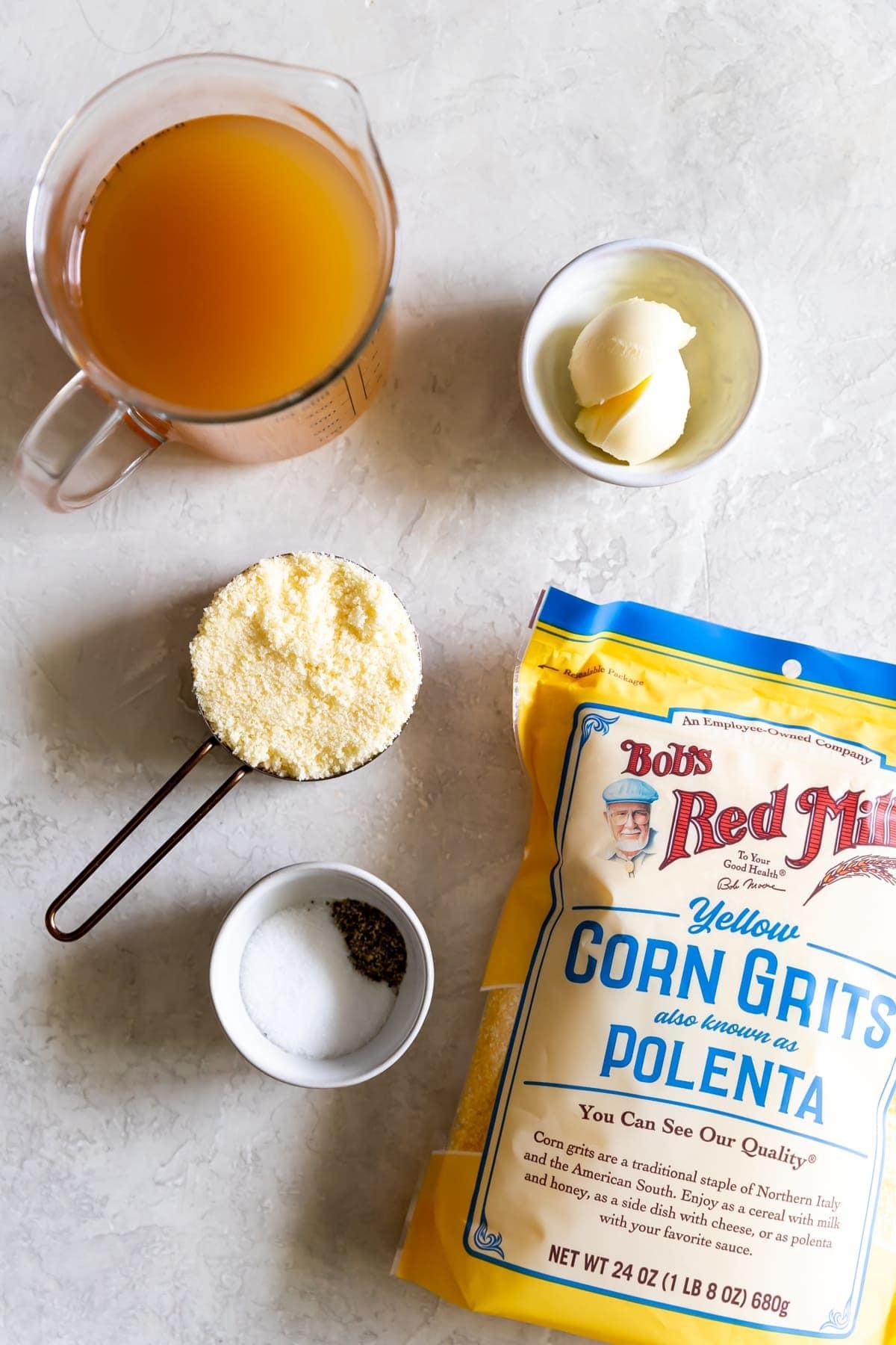 ingredients for polenta fries recipe