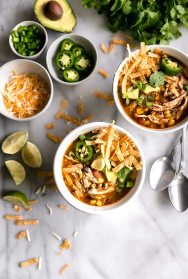 Quick + Easy 30-Minute Chicken Tortilla Soup