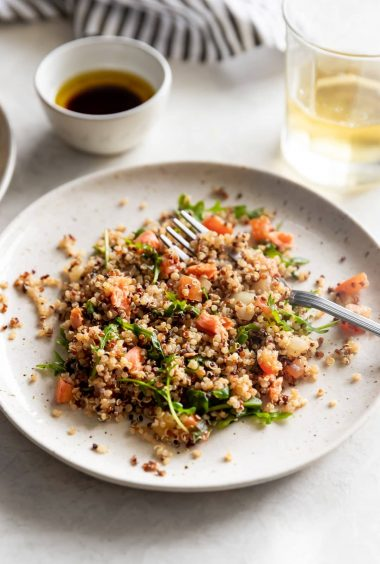 Salmon Quinoa Salad with Balsamic Vinaigrette