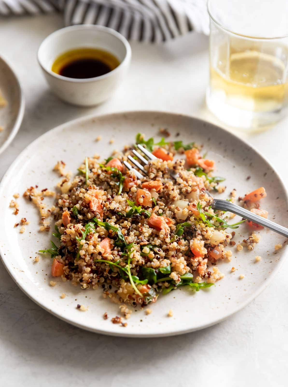 Salmon Quinoa Salad With Balsamic Vinaigrette A Sassy Spoon