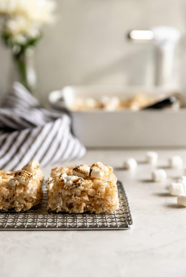 Smoky Rice Krispie Treats (5 ingredients!)