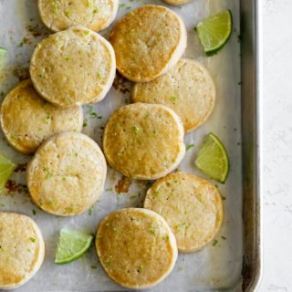 a baking sheet with best shortbread cookie recipe